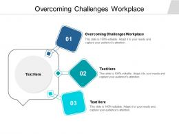 Overcoming Challenges Workplace Ppt Powerpoint Presentation Model Demonstration Cpb
