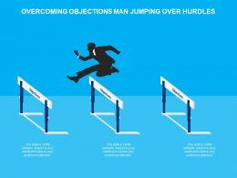 Overcoming Objections Man Jumping Over Hurdles