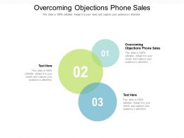 Overcoming Objections Phone Sales Ppt Powerpoint Presentation Summary Format Cpb