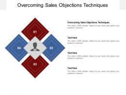 Overcoming Sales Objections Techniques Ppt Powerpoint Presentation File Cpb
