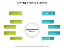 Overdependence Business Ppt Powerpoint Presentation Icon Design Templates Cpb