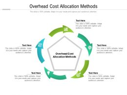Overhead Cost Allocation Methods Ppt Powerpoint Presentation Slides Design Cpb