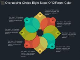 Overlapping Circles Eight Steps Of Different Color