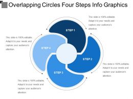 Overlapping Circles Four Steps Info Graphics