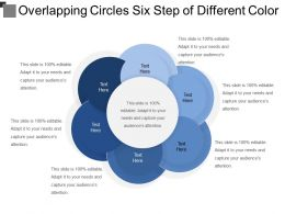 Overlapping Circles Six Step Of Different Color