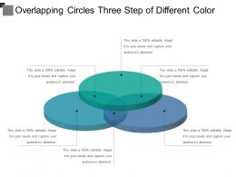 Overlapping Circles Three Step Of Different Color