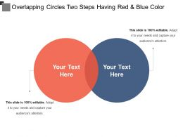 Overlapping Circles Two Steps Having Red And Blue Color