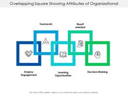 Overlapping Square Showing Attributes Of Organizational Culture