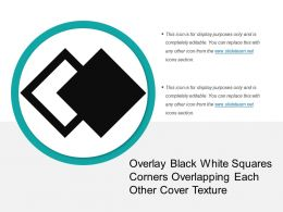 Overlay Black White Squares Corners Overlapping Each Other Cover Texture