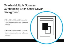 Overlay Multiple Squares Overlapping Each Other Cover Background