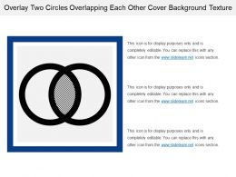 Overlay Two Circles Overlapping Each Other Cover Background Texture