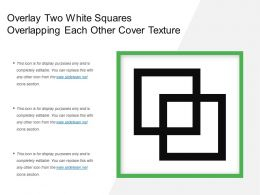 Overlay Two White Squares Overlapping Each Other Cover Texture