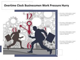 Overtime Clock Businessmen Work Pressure Hurry