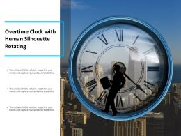 Overtime Clock With Human Silhouette Rotating