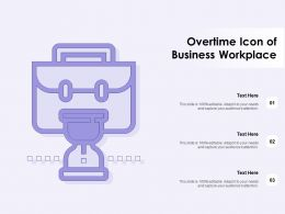 Overtime Icon Of Business Workplace