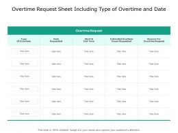 Overtime Request Sheet Including Type Of Overtime And Date