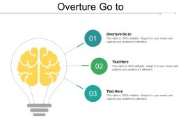 Overture Go To Ppt Powerpoint Presentation Gallery Grid Cpb