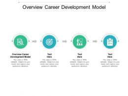 Overview Career Development Model Ppt Powerpoint Presentation Professional Gallery Cpb