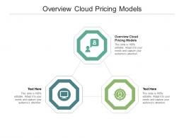Overview Cloud Pricing Models Ppt Powerpoint Presentation Portfolio Demonstration Cpb