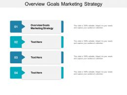 Overview Goals Marketing Strategy Ppt Powerpoint Presentation Slides Aids Cpb