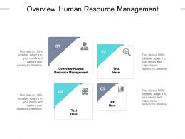 Overview Human Resource Management Ppt Powerpoint Presentation Inspiration Cpb