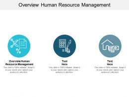 Overview Human Resource Management Ppt Powerpoint Presentation Slides Layout Cpb
