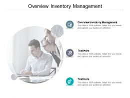 Overview Inventory Management Ppt Powerpoint Presentation Guidelines Cpb