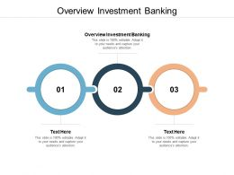 Overview Investment Banking Ppt Powerpoint Presentation Summary Graphic Images Cpb