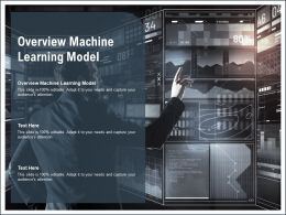 Overview Machine Learning Model Ppt Powerpoint Presentation Infographic Template Deck Cpb