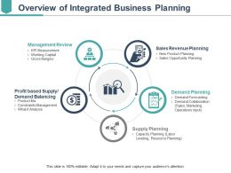 Overview Of Integrated Business Planning Ppt Examples Professional