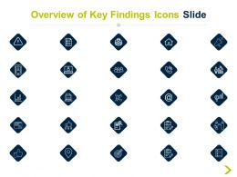 Overview Of Key Findings Icons Slide Team H15 Ppt Powerpoint Presentation Pictures Templates