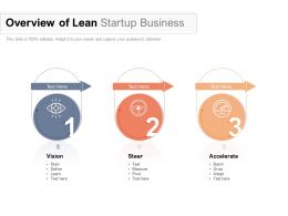 Overview Of Lean Startup Business