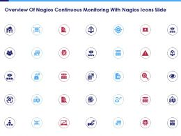 Overview Of Nagios Continuous Monitoring With Nagios Icons Slide Ppt Slides