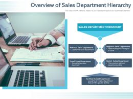 Overview Of Sales Department Hierarchy