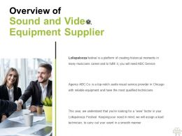 Overview Of Sound And Video Equipment Supplier Ppt Powerpoint Presentation Portfolio