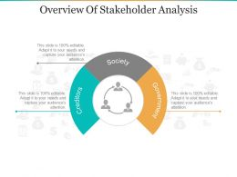 Overview Of Stakeholder Analysis PPT Design