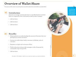 Overview Of Wallet Share Benefits Ppt Powerpoint Presentation Icon Introduction