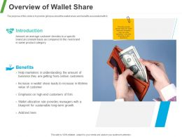 Overview Of Wallet Share Ppt Powerpoint Presentation Portfolio Professional