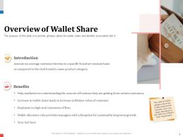 Overview Of Wallet Share Rival Powerpoint Presentation Gridlines