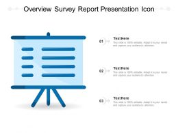 Overview Survey Report Presentation Icon