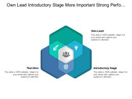 Own Lead Introductory Stage More Important Strong Performance