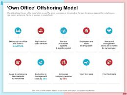 Own Office Offshoring Model Quality Control Ppt Presentation Styles Inspiration