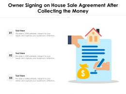 Owner Signing On House Sale Agreement After Collecting The Money