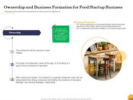 Ownership And Business Formation For Food Startup Business Ppt Powerpoint Presentation Outline
