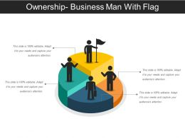 Ownership Business Man With Flag Ppt Icon