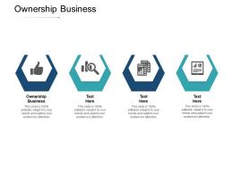 Ownership Business Ppt Powerpoint Presentation File Templates Cpb