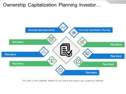 Ownership Capitalization Planning Investor Introductions Presentation Development Coaching