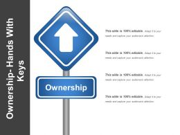 Ownership Hands With Keys Presentation Ideas