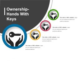 Ownership Hands With Keys Presentation Portfolio