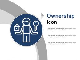 Ownership Icon Ppt Sample Presentations